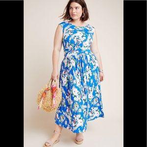 Anthropologie Maeve Kyla Floral Midi Dress
